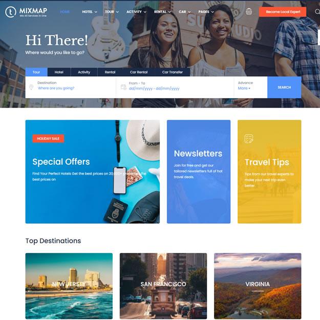 Criar Site Serviços Turismo
