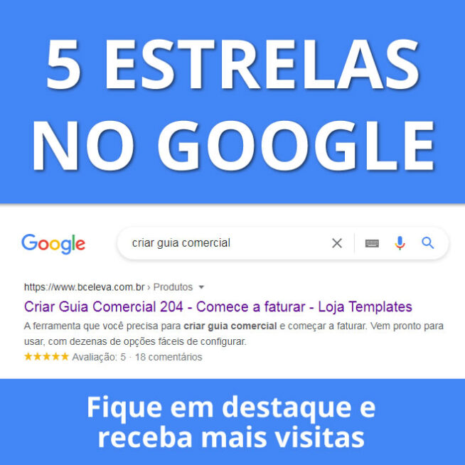 5 estrelas no google