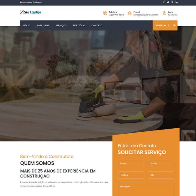 Site Pronto Construtora Wordpress