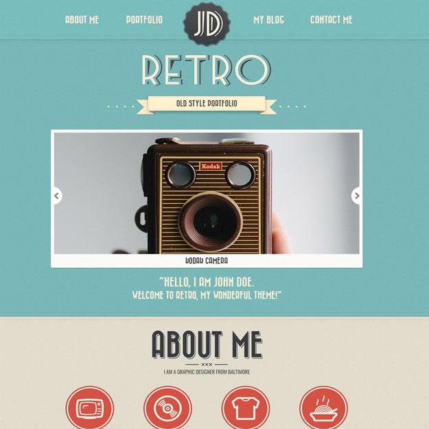 Criar Site Retrô Vintage