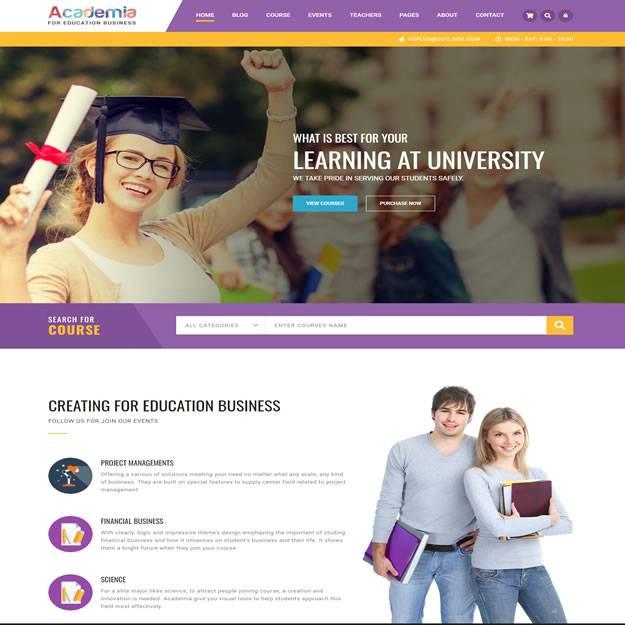 Criar Site Escola Cursos Wordpress