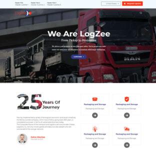 Criar Site Logística Transportadora