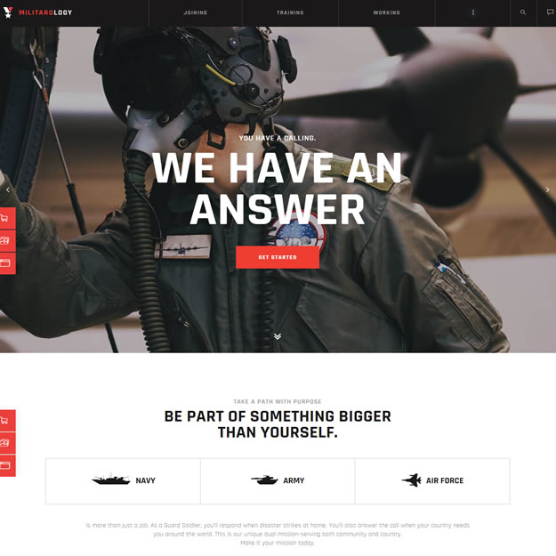 Criar Site Militar Wordpress