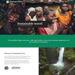Criar Site Turismo Sustentável